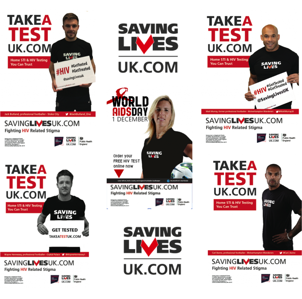 Jack Butland, Wayne Hennessey, Carl Ikeme, Matt Murray, Carly Telford: HIV Testing and Saving Lives
